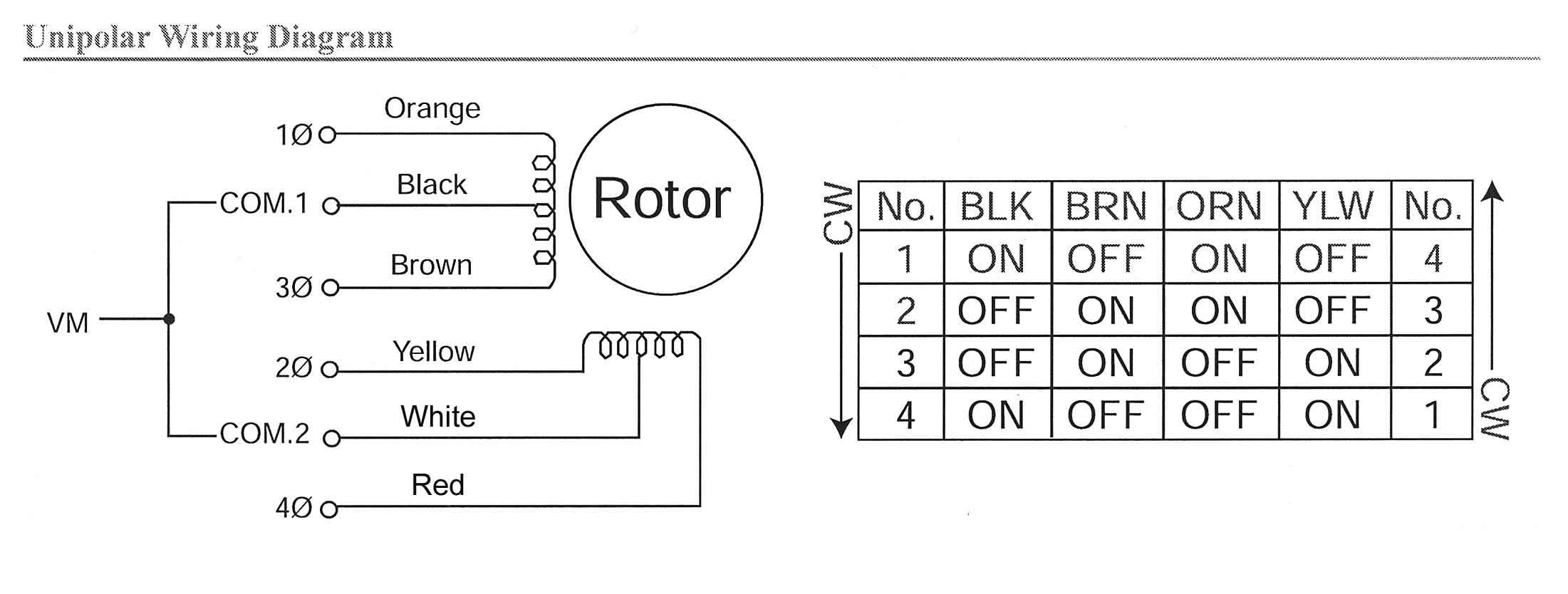 Astrosyn stepper motor datasheet.