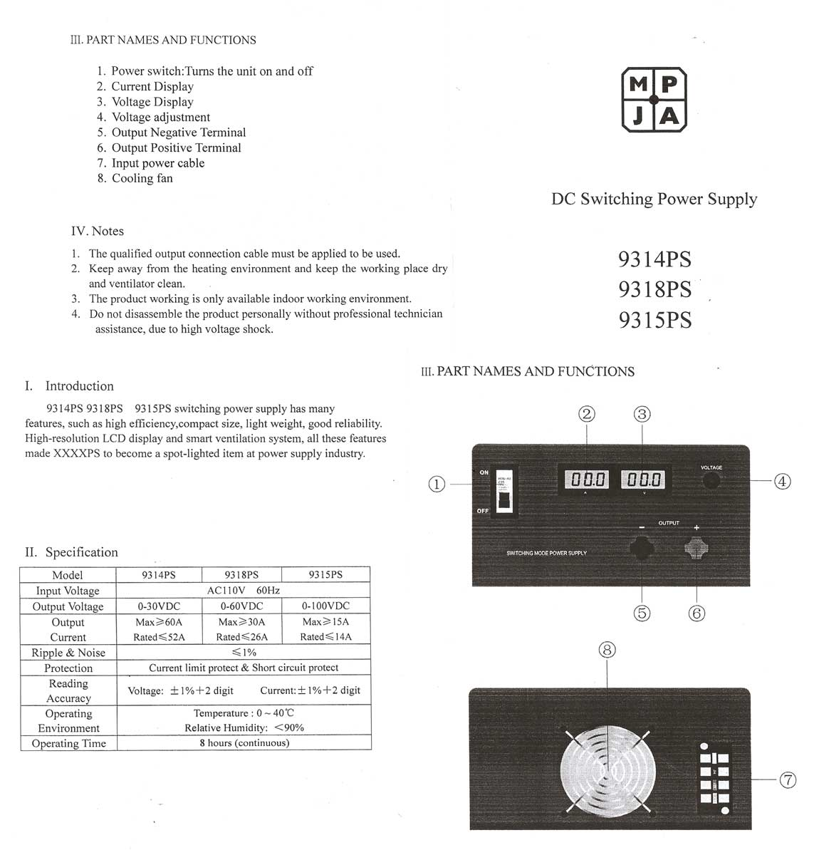 0 30v 52a Variable Benchtop Power Supply Short Circuit Protection To Your View Br Data Sheet
