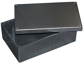 8 8in X 5 5in 3 6in Black Plastic Box Enclosure
