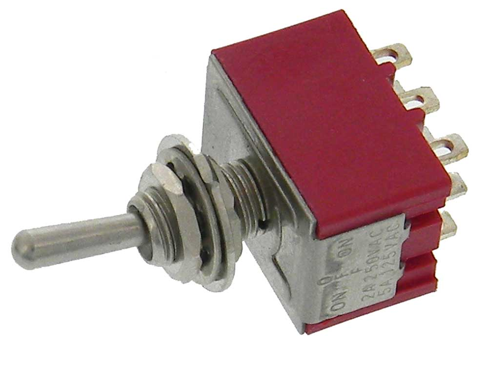 3PDT On-Off-On Mini Toggle Switch