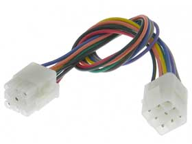 9 round pin latching mating wiring harness mpja com wire harness adapters 9 round pin latching mating wiring harness