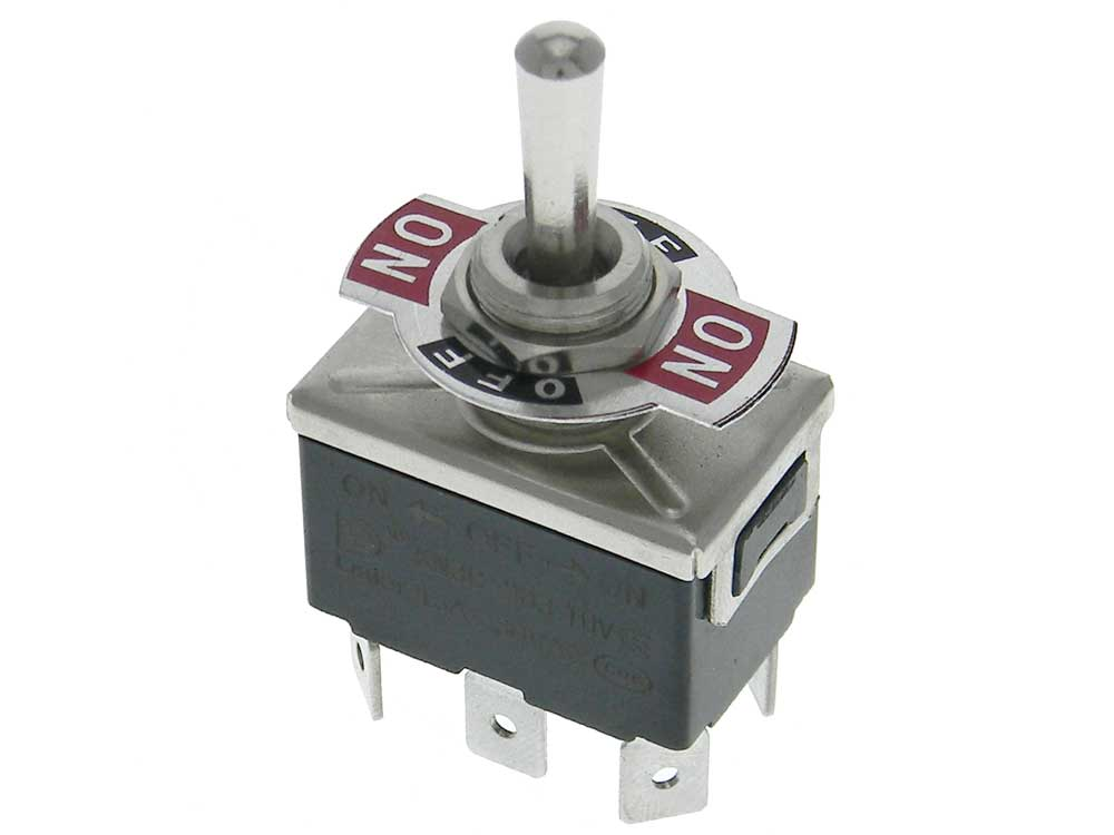 Toggle Switch Quick Connect DPDT On-Off-On | MPJA.COM