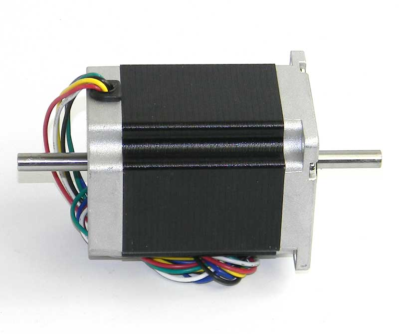 Stepper motor nema 23 5 7v dual shaft mpja com for Nema stepper motor sizes
