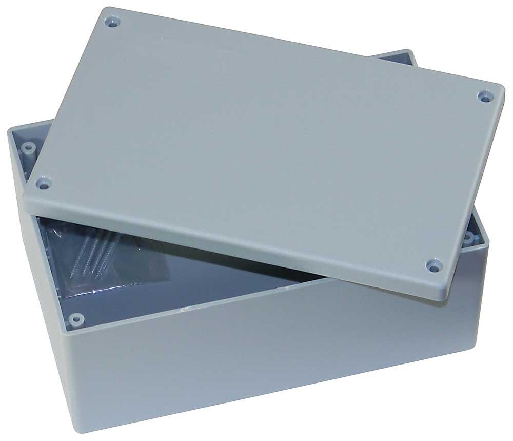 Acrylic Box 4 X 4 : In gray plastic box enclosure