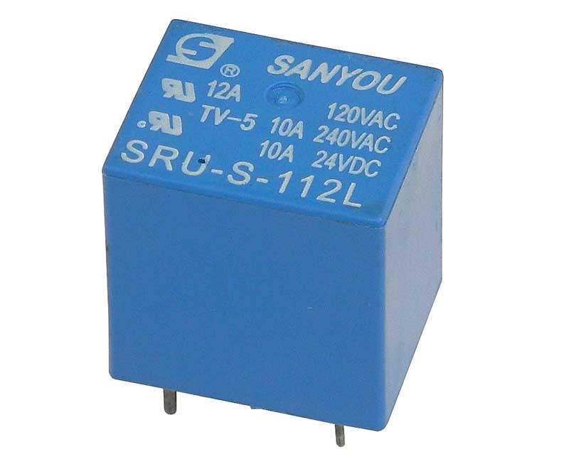 12VDC, SPDT 10A Relay