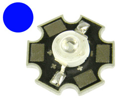 20 lm 1 Watt BLUE Star LED