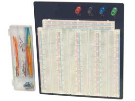 3220 Tie Point Solderless Breadboard Mounted Panel with Jumpers
