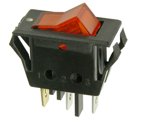 Lighted Rocker Switches: SPST Rocker Switch, 120VAC Lighted,Lighting