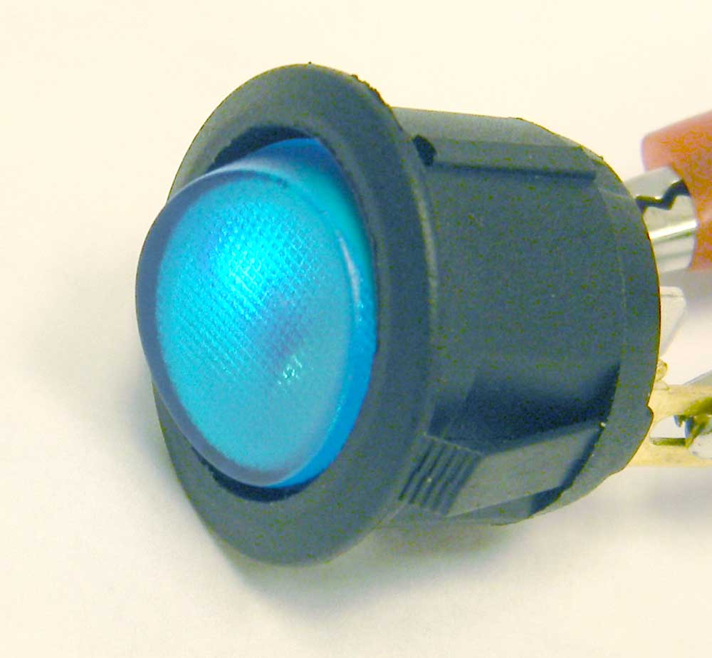 SPST Rocker Switch, 12V Lighted Top   MPJA.COM