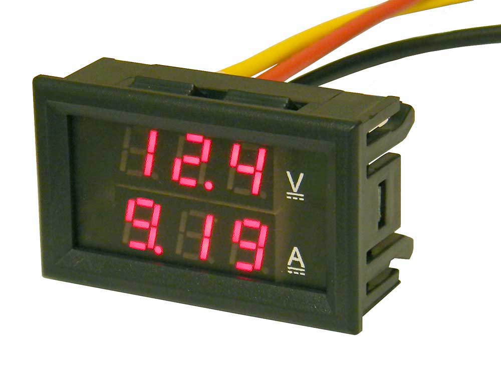 Digital Amp Meter Panel : Mini panel meter dual led display 30 volts & 10 amps dc mpja.com