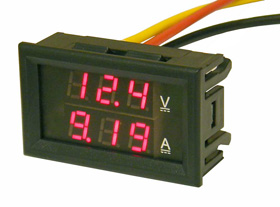 Mini Panel Meter, Dual LED Display 30 Volts & 10 Amps DC