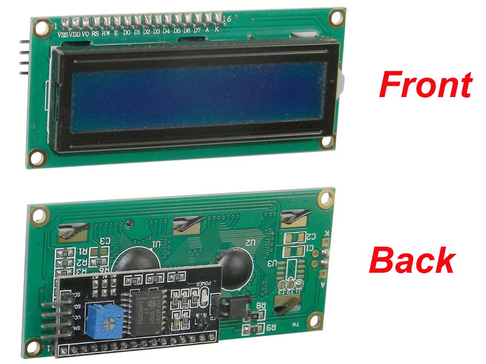 Serial 2 X 16 LCD Display for Arduino