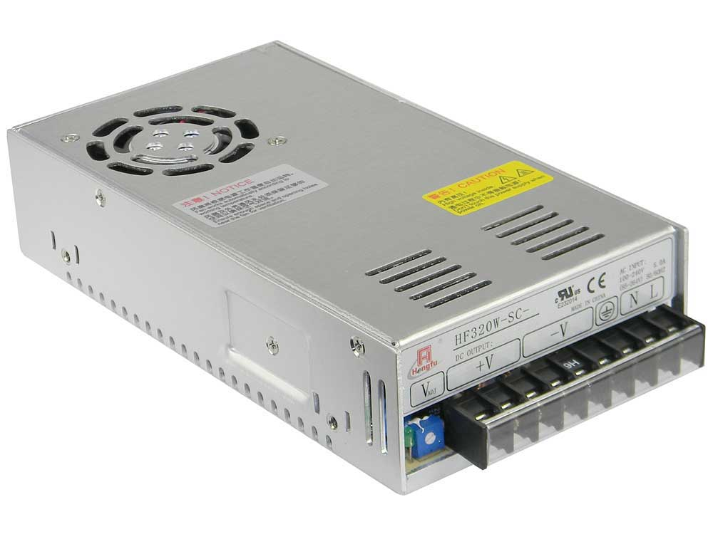 Amazing 24 Volt Power Supply, 13A, With PFC, Hengfu 31344 Large