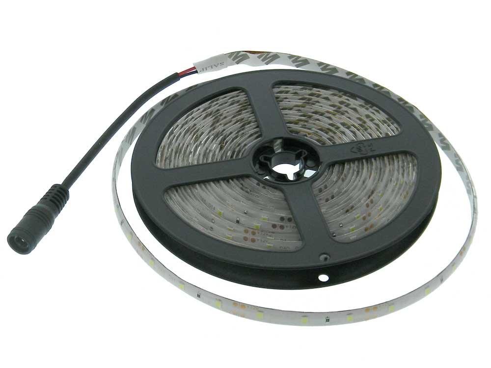 5M White LED Light Strip, 12VDC, IP65 | MPJA.COM
