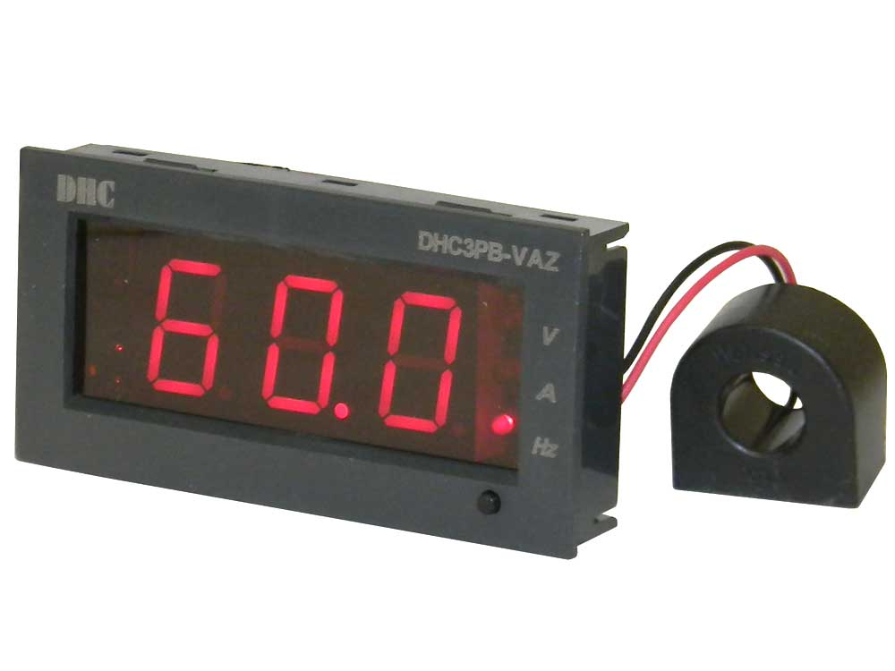 Digital Amp Meter Panel : Panel meter snap in ac volts amps & frequency mpja.com