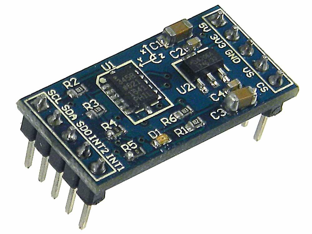 Raspberry pi accelerometer