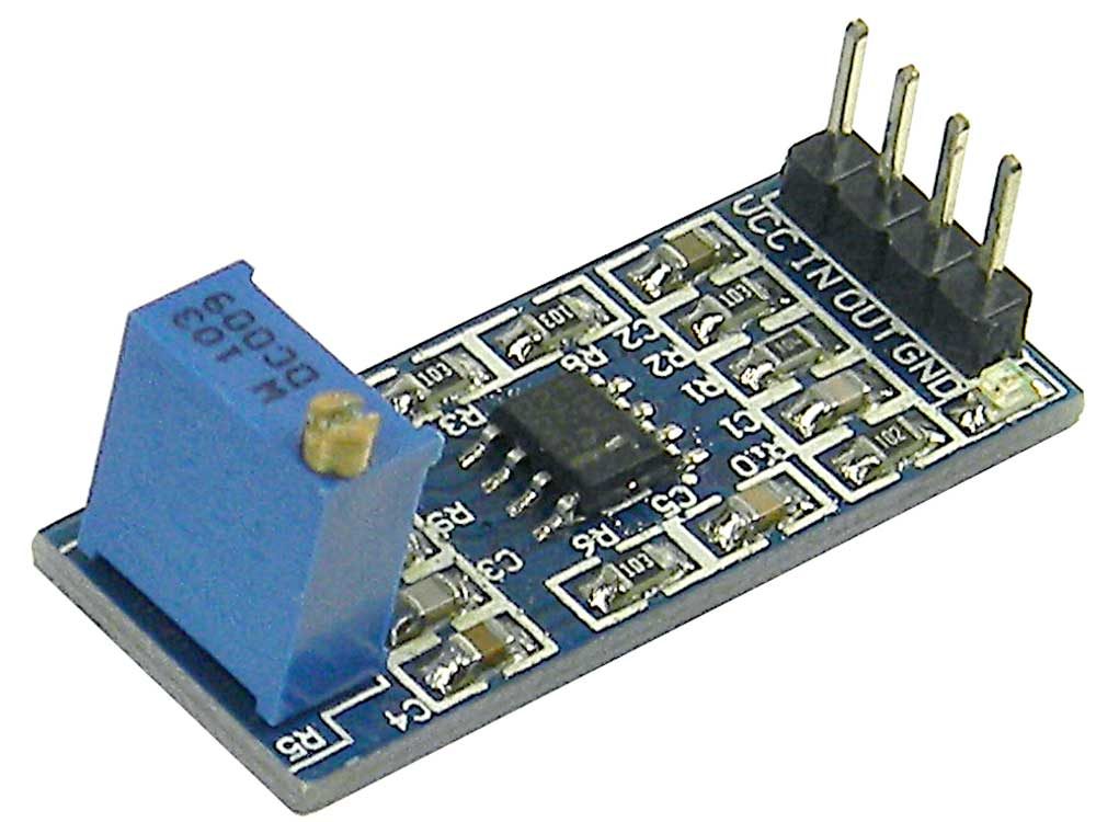 Adjustable AC Coupled LM358 Amplifier Module