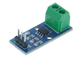Hall Effect Current Sensor Module, 20Amps, ACS712T-20