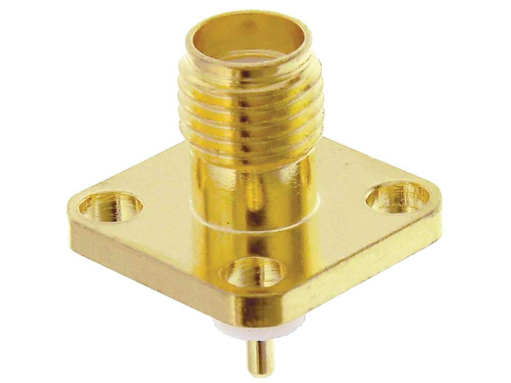 Sma type connector flange mount female mpja