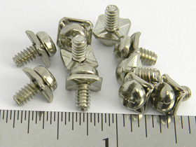 Pack of 10 - 6-32 Screws with wire clamp for Power Supply