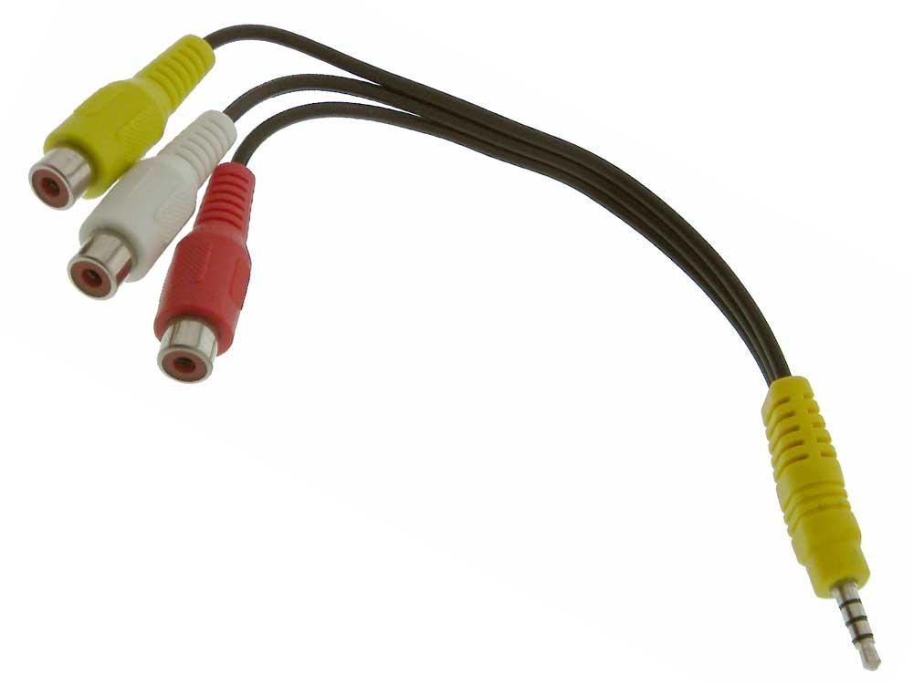 3.5mm Plug TRRS 4 pole to 3 RCA Female 8\