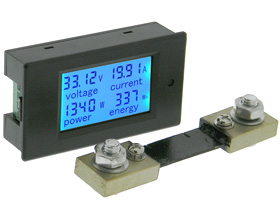 Panel Meter, DC Snap-in, Multi Function DC, 100V, 100A, 10KW