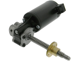 Leadscrew Motor, 12VDC, Right Angle with Brass Flange Nut