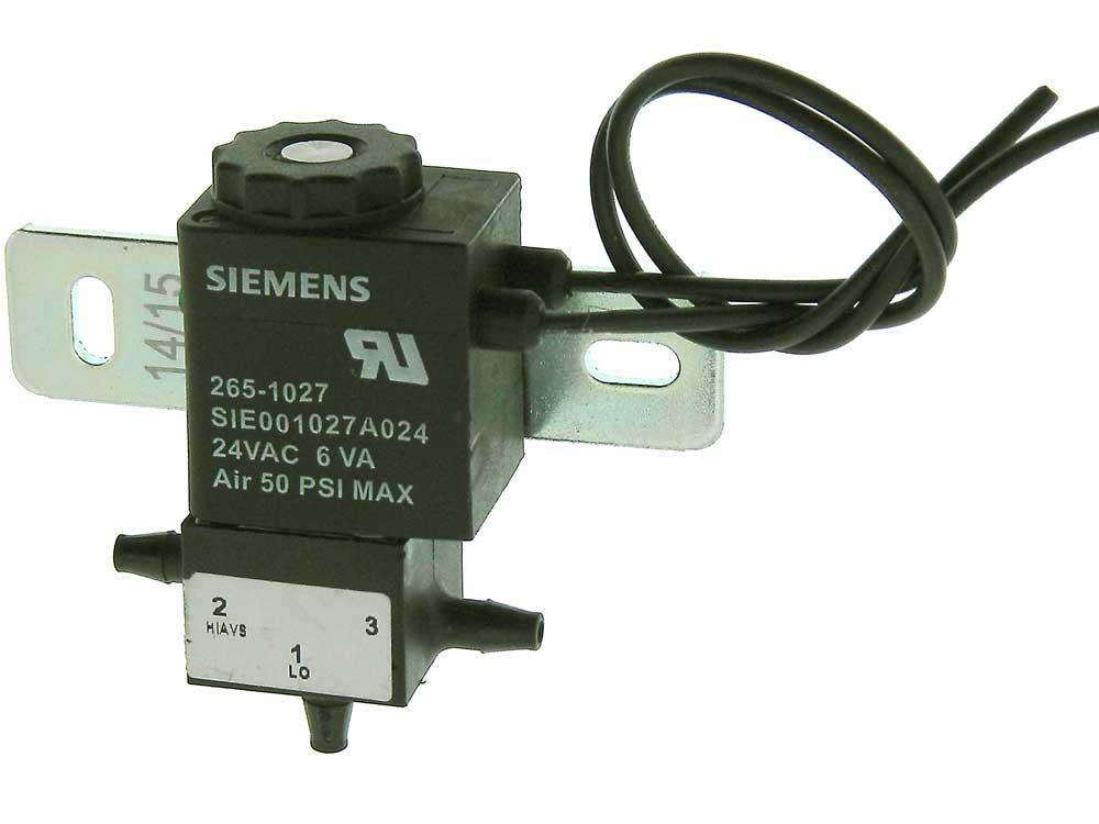 Solenoid Air Valve, 24VAC, 3 Way Siemens SIE001027A024   MPJA COM