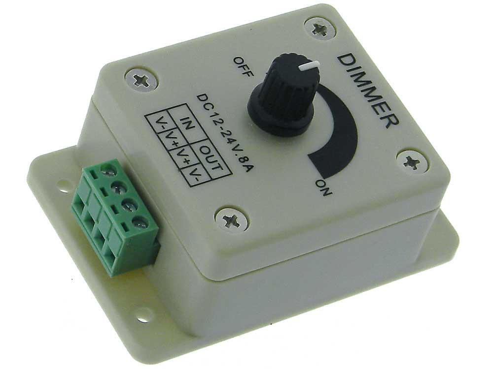 LED Strip Dimmer, 12-24VDC