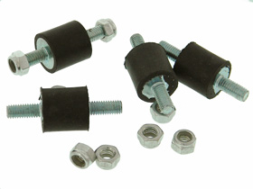 Pack of 4 - Shock Mount, Threaded Studs