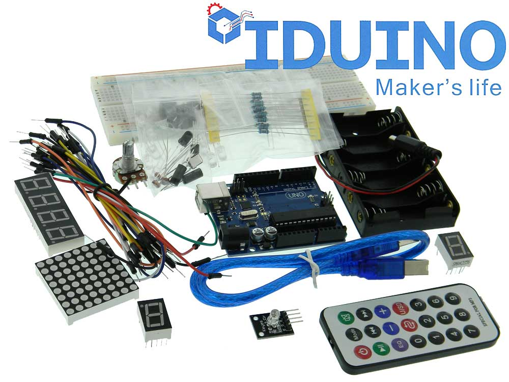 Arduino uno r basic beginner kit mpja