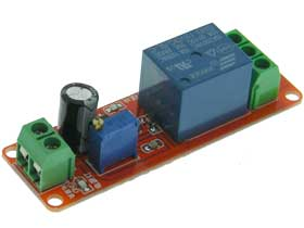 Time Delay Module, Adj. 0-10Sec. Delay on Make, 12VDC