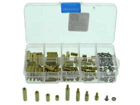Box of 120 - Brass Standoff with Screws & Nuts. M3mm  #2