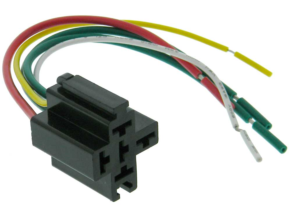 Miraculous Automotive Relay 5 Pin Pigtail Socket Connector Mpja Com Wiring Cloud Hisonuggs Outletorg