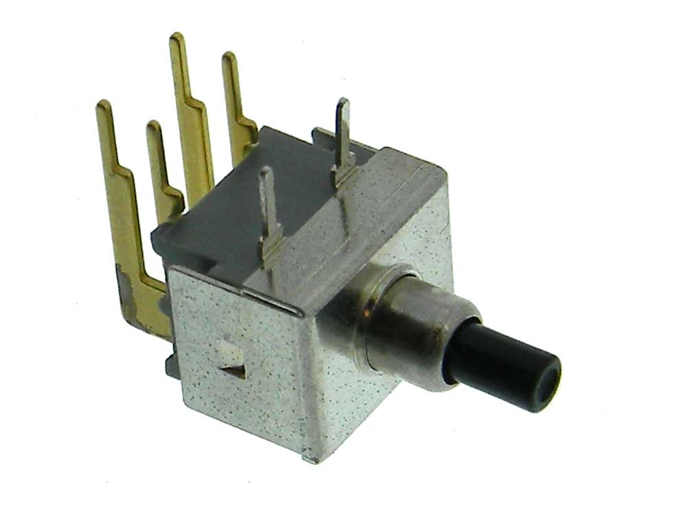 DPST-NO Right Angle Pushbutton Switch Long Button | MPJA.COM