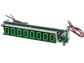 Frequency Meter. 8Digit. 100KHz-2.4Ghz Green
