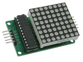 8X8 Red Programmable LED Matrix