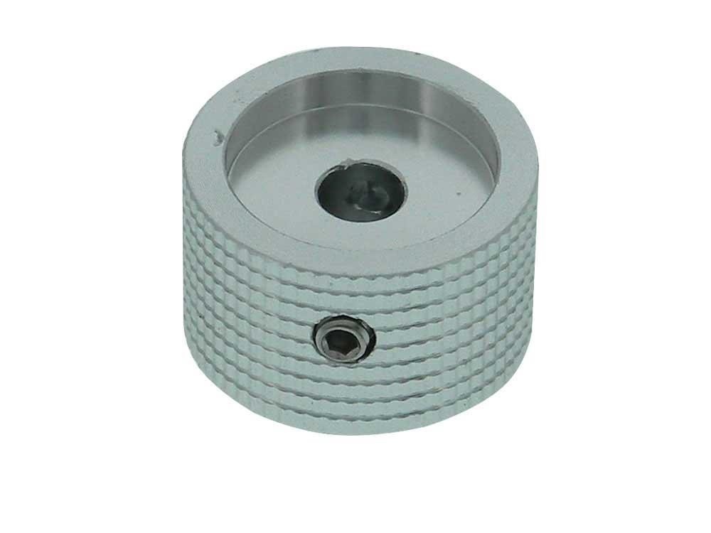 Machined Aluminum Knob, 6mm Shaft, Silver