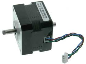 Stepper Motor, Dual Shaft NEMA 17,