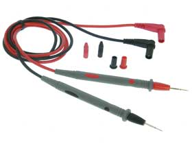 Test Probes, Needle Point  1m Red & Black
