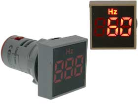 Frequency Meter Square 0-99Hz  Red LED