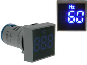 Frequency Meter Square 0-99Hz  Blue LED