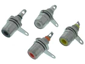 RCA Panel Jack 4 Color Pack