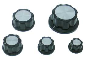 Plastic Instrument Knobs 5pc. Pack