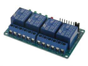 Quad Relay Board, Isolated 5V