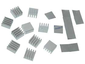 Pack of 10 - 8mm x 8mm Heatsink Square with Double Sided Adhesive