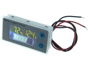 Universal  Battery Charge Monitor with Temperature