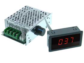 20A 12-80V DC Motor Speed Control & Display