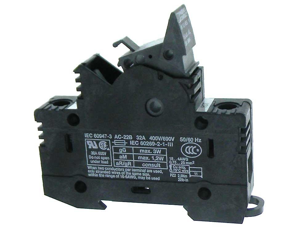 Set Of 4 DIN Rail Fuse Holder Terminal Blocks