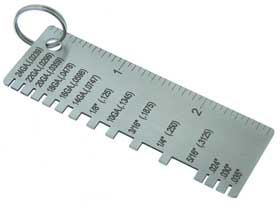 Stainless Steel  Sheet Metal Thickness Gauge